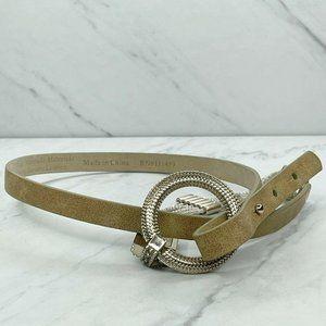 White House Black Market Skinny Leather Lined Belt